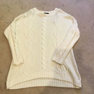 F21 neutral cable knit sweater. Size M